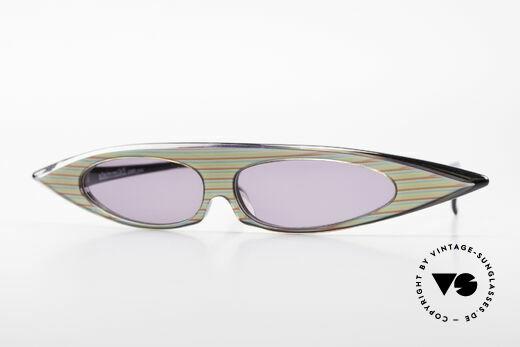 Alain Mikli 0104 / 215 Futuristic 1980's Sunglasses Details