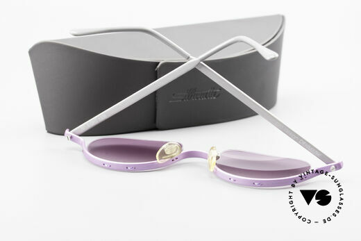 ProDesign No8 Gail Spence Design Shades, pink-purple-gradient sun lenses and Silhouette case, Made for Women