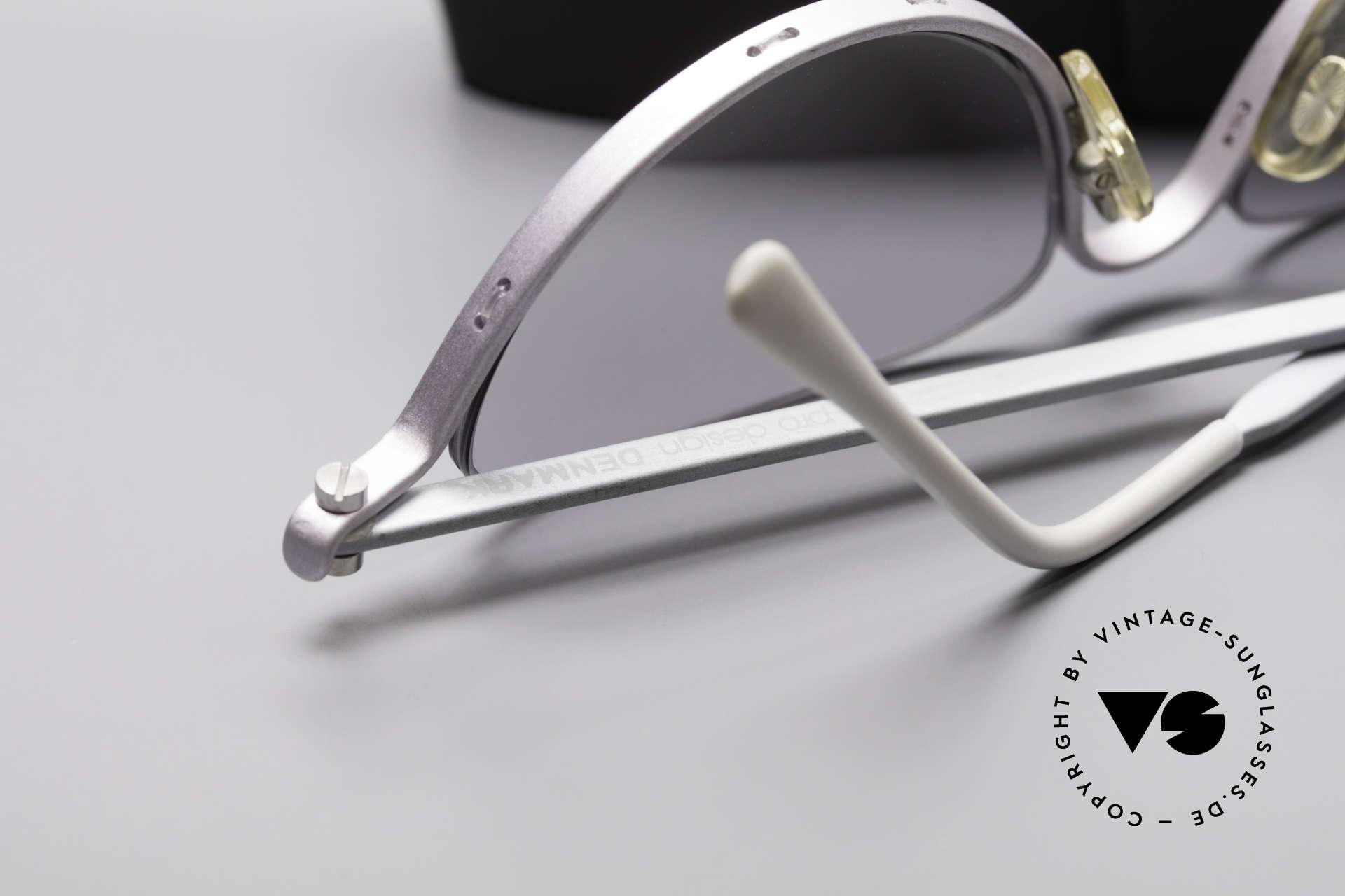 ProDesign No10 Gail Spence Design Sunglasses, light gray-gradient sun lenses & Silhouette hard case, Made for Women