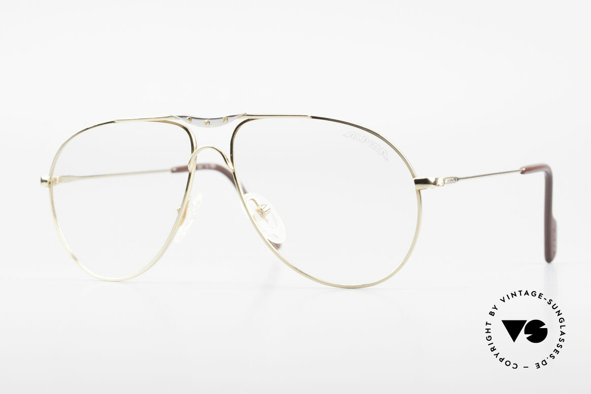 Alpina M1F751 Classic Aviator Eyeglasses, classic vintage aviator eyeglass-frame by ALPINA, Made for Men
