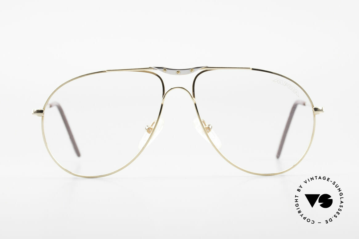 Alpina M1F751 Classic Aviator Eyeglasses, tangible premium craftsmanship (made in Germany), Made for Men