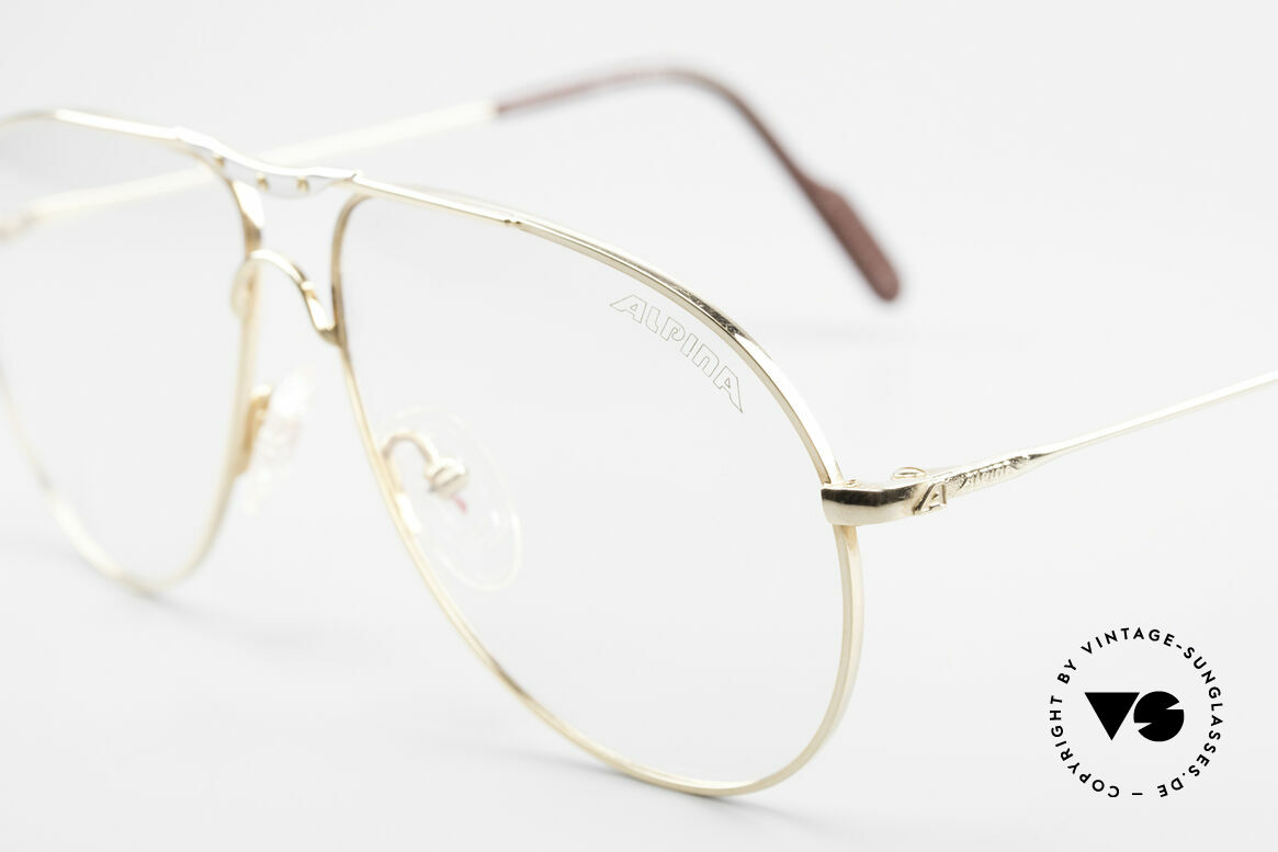 Alpina M1F751 Classic Aviator Eyeglasses, never worn (like all our rare vintage Alpina eyewear), Made for Men