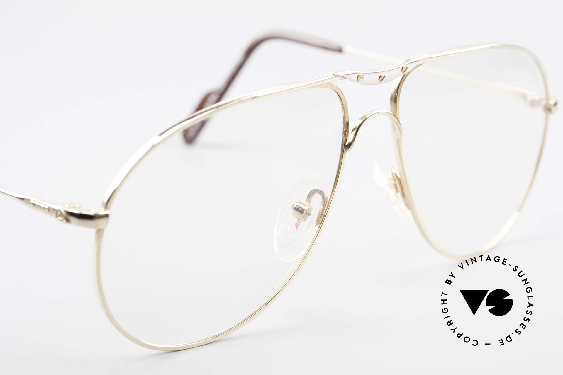 Alpina M1F751 Classic Aviator Eyeglasses, NO RETRO eyeglasses, but a 25 years old ORIGINAL!, Made for Men