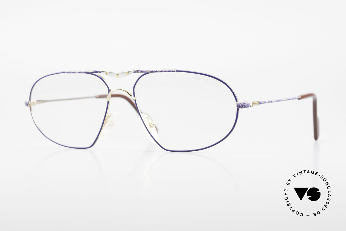 Alpina M1F755 Old Classic Men's Eyeglasses, classic metal eyeglass-frame by Alpina from the 90's, Made for Men
