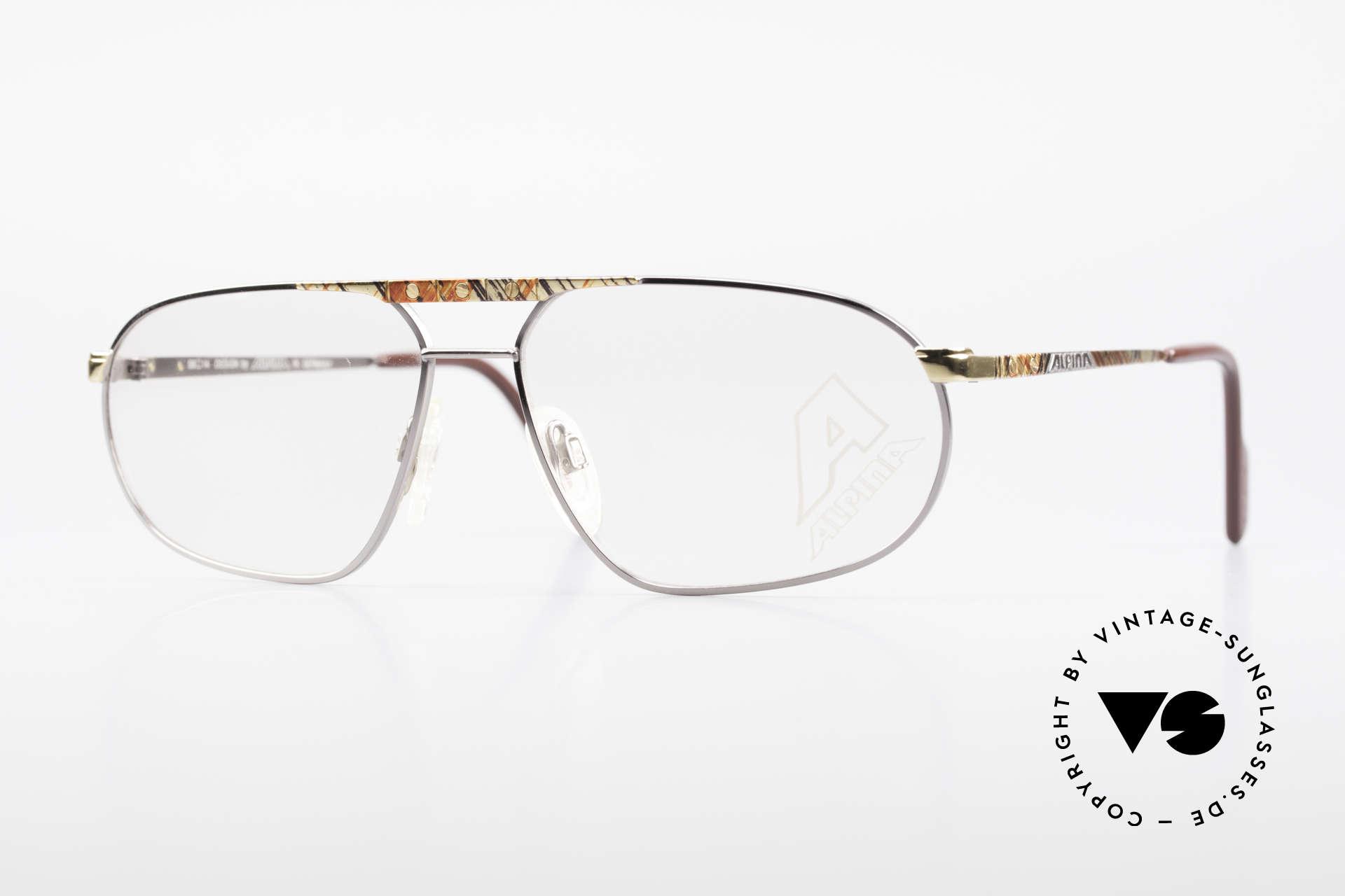 Alpina FM28 80's Designer Eyeglass-Frame, Alpina premium vintage eyeglasses from 1988/89, Made for Men