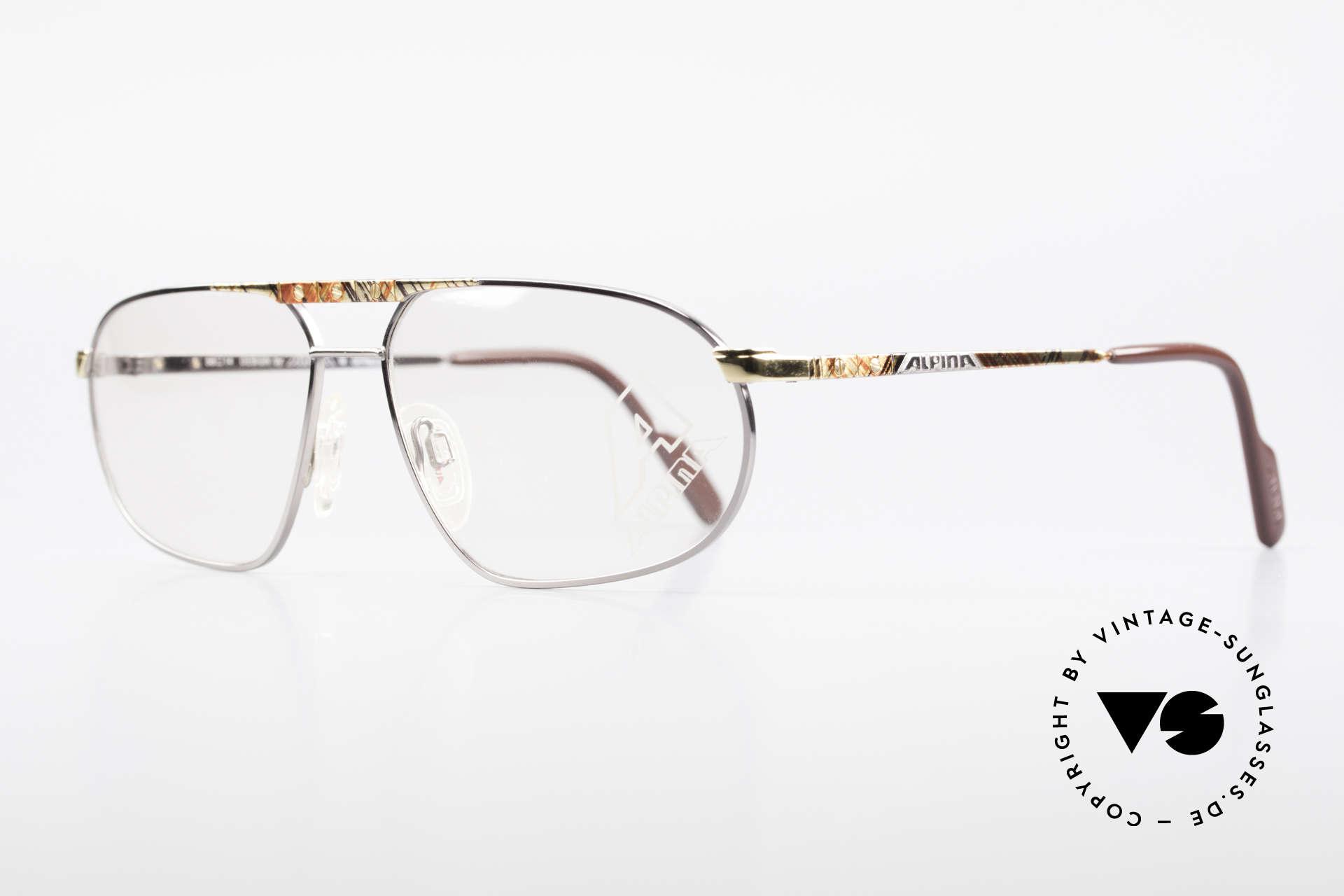 Alpina FM28 80's Designer Eyeglass-Frame, striking masculine design and 1st class comfort, Made for Men