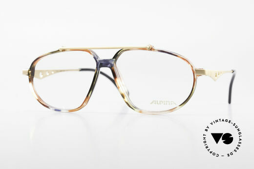 Alpina TFF461 90's Designer Eyeglasses Men Details