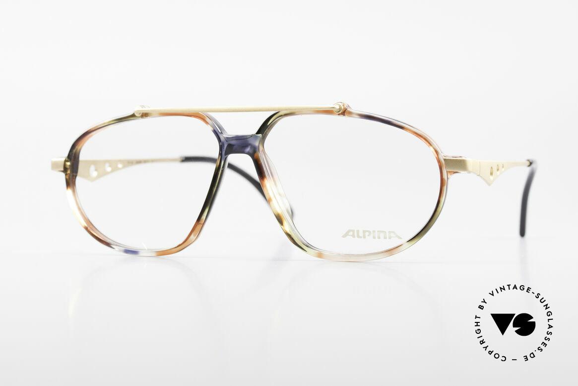 Alpina TFF461 90's Designer Eyeglasses Men, Alpina premium vintage eyeglasses from 1993/94, Made for Men
