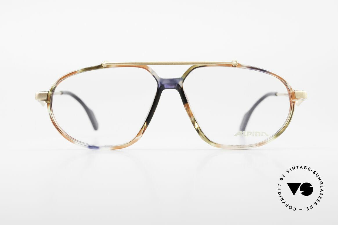 Alpina TFF461 90's Designer Eyeglasses Men, great material combination and striking pattern, Made for Men