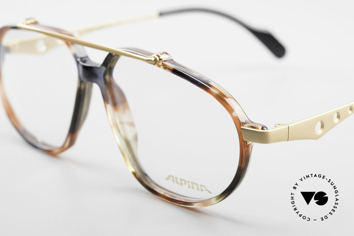 Alpina TFF461 90's Designer Eyeglasses Men, extraordinary frame design (something different), Made for Men