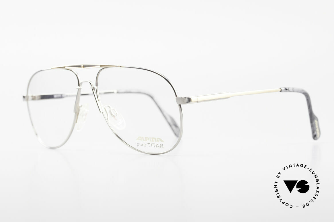 Alpina M1FT Vintage Aviator Titan Frame, pure TITAN and accordingly very pleasant to wear, Made for Men