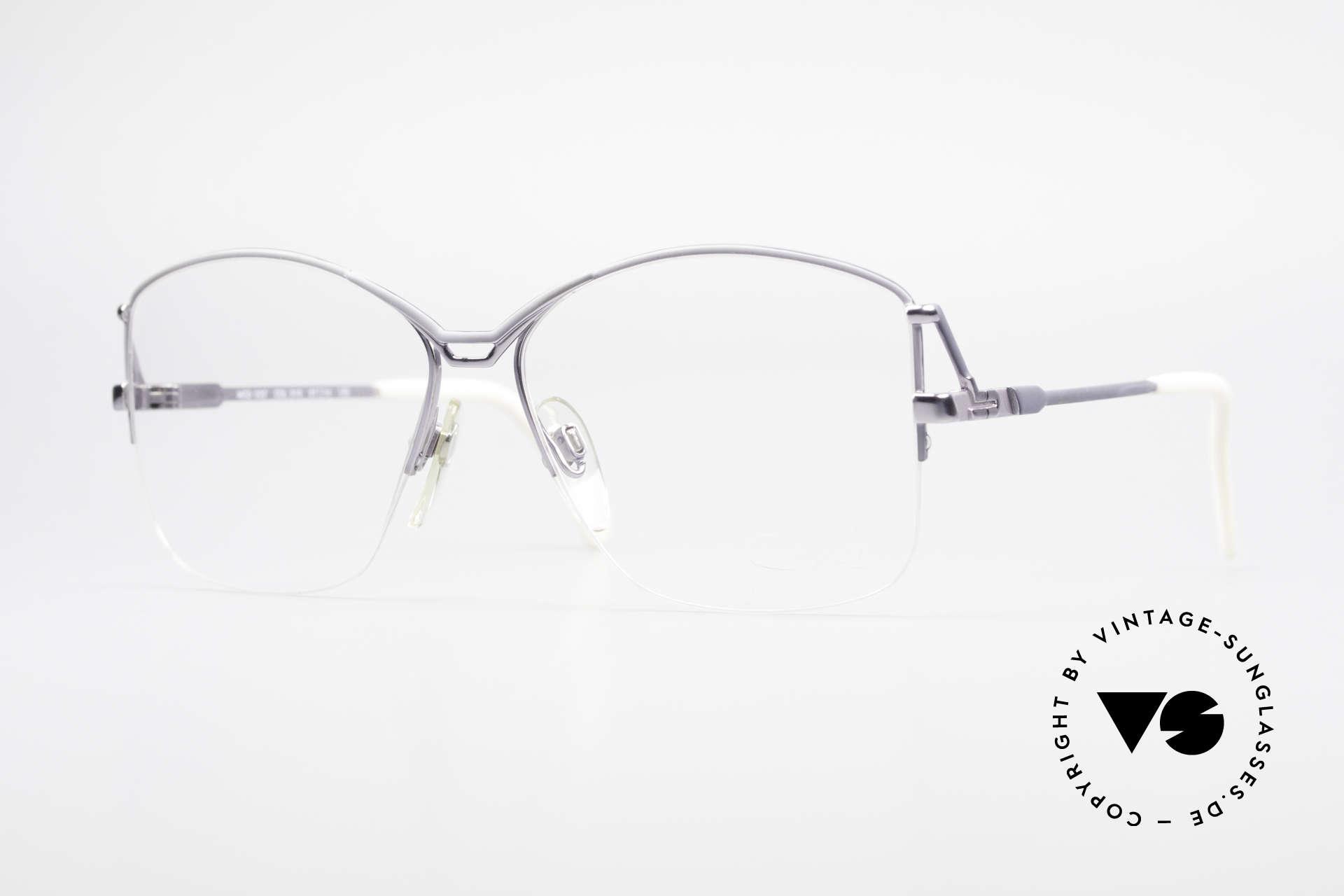 Cazal 222 80's Original No Retro Glasses, discreet vintage designer eyeglass-frame by Cazal, Made for Women