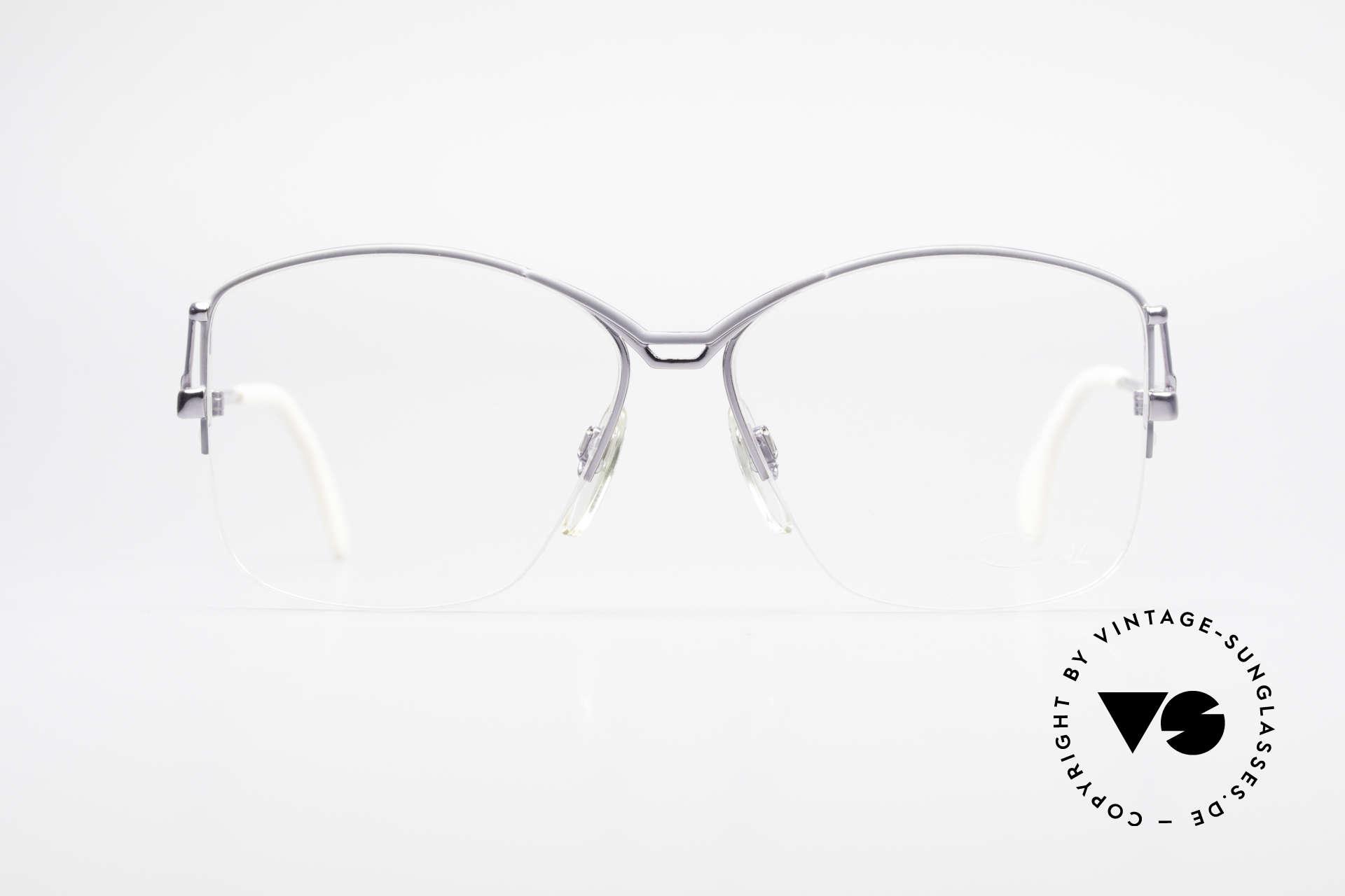 Cazal 222 80's Original No Retro Glasses, half-rimmed spectacles, feminine butterfly-design, Made for Women