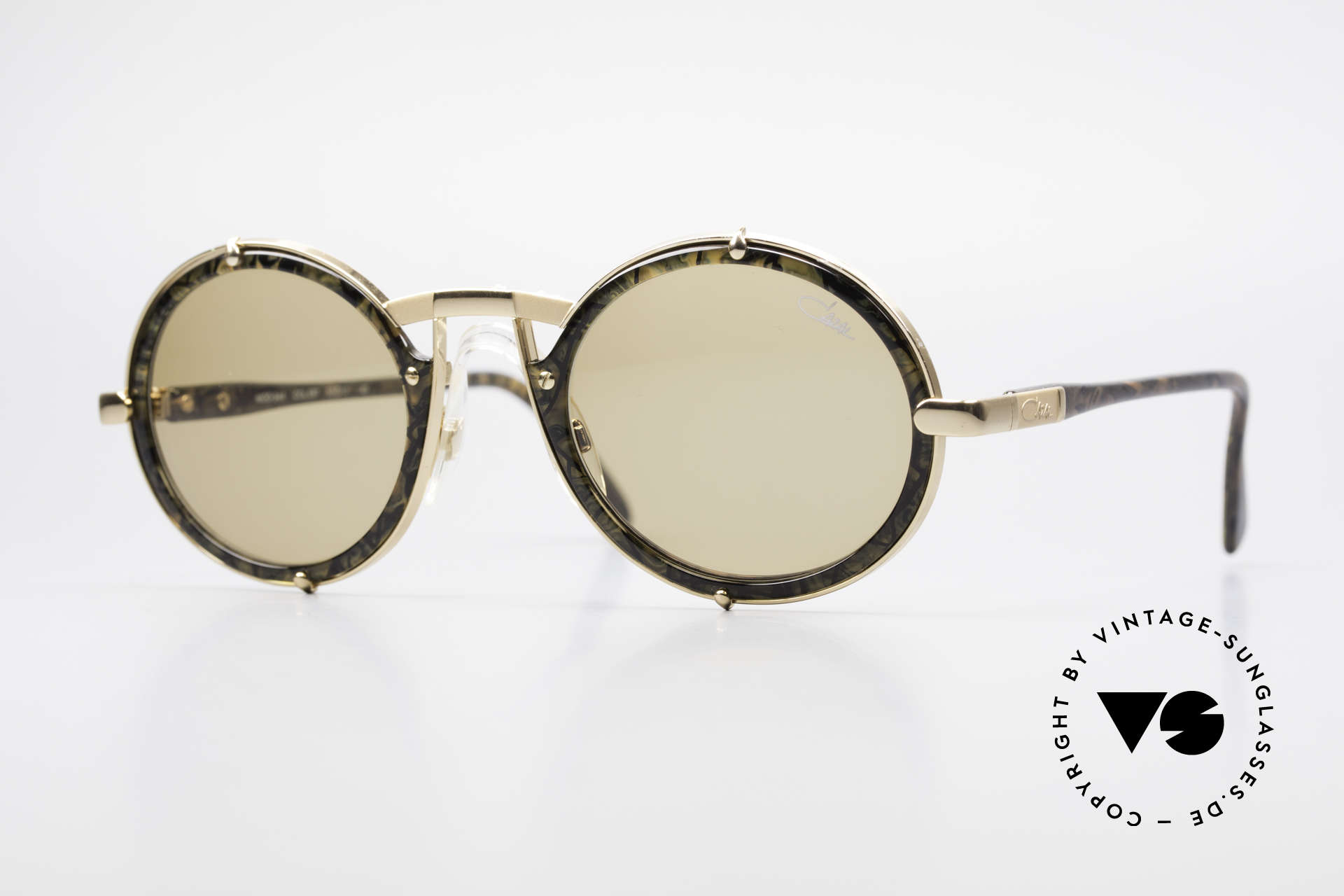 Cazal 644 Round 90's Cazal Sunglasses, vintage Cazal sunglasses from the early 1990's, Made for Men and Women