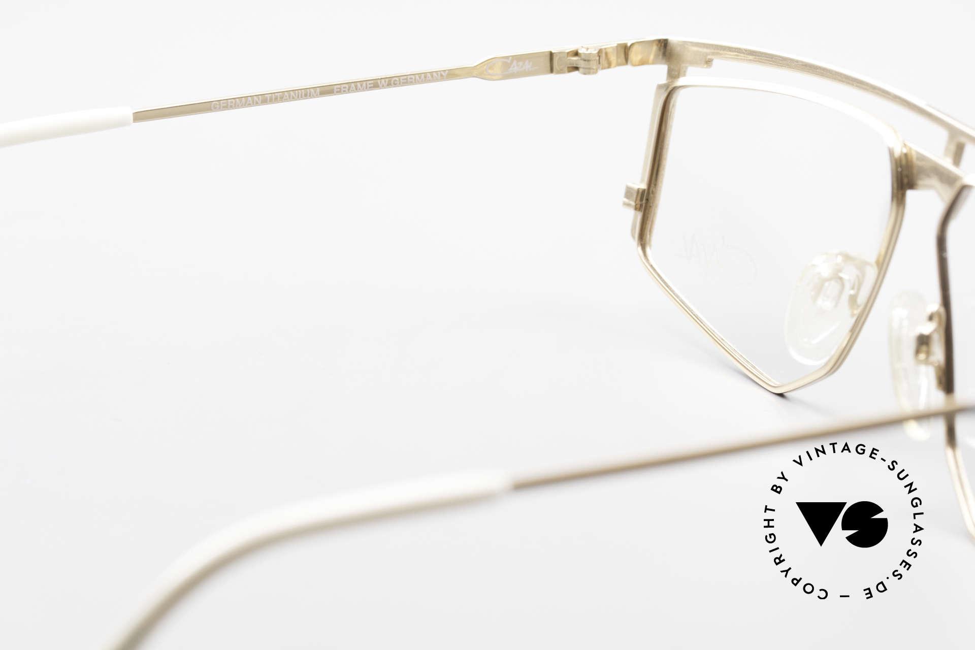 Cazal 235 Titanium Vintage Cazal Frame, the frame fits optical lenses or tinted lenses optionally, Made for Men and Women