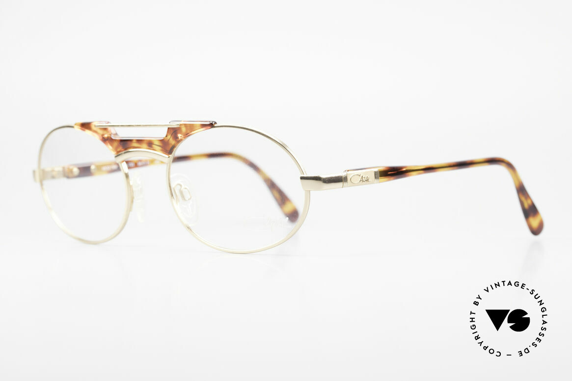 Cazal 749 Oval Designer Frame Unisex, very noble combination of colors and materials, Made for Men and Women