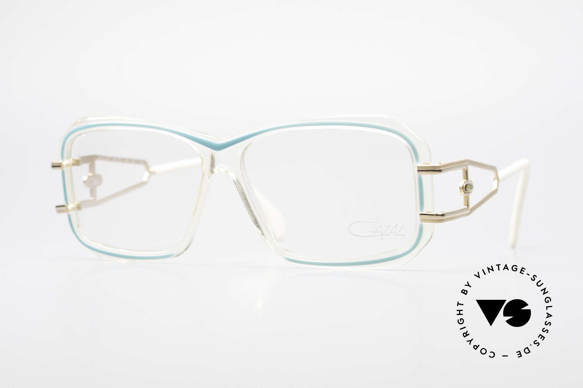 Cazal 173 Hip Hop Cazal 80's Glasses, legendary Cazal design; directly from the 1980's, Made for Women