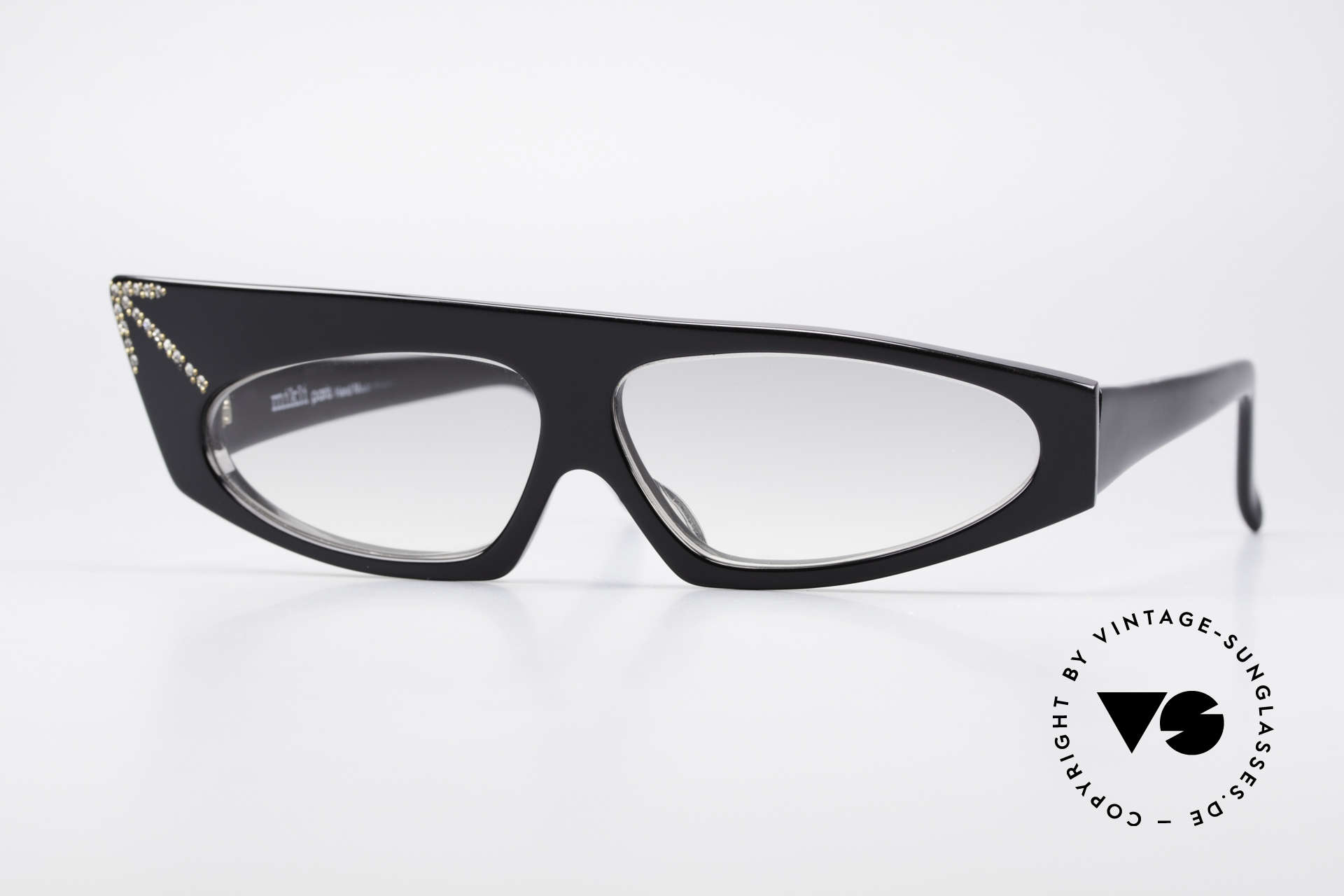 Alain Mikli 305 / 101 80's Haute Couture Sunglasses, asymmetrical Alain Mikli Paris vintage 'art sunglasses', Made for Women