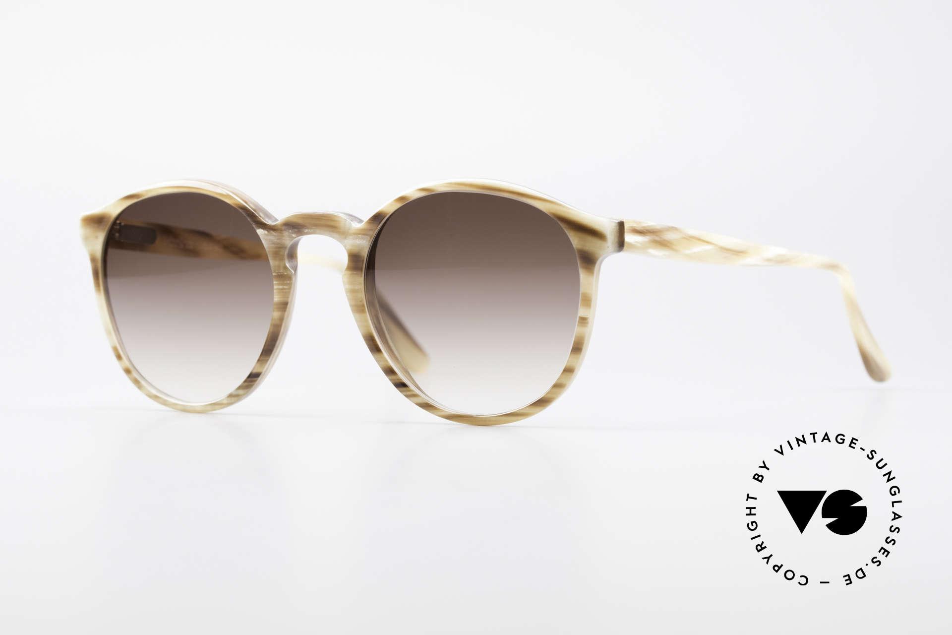 Hartmanns H42 Horn Johnny Depp Style Sunglasses, precious 90's panto-sunglasses; Johnny Depp style, Made for Men