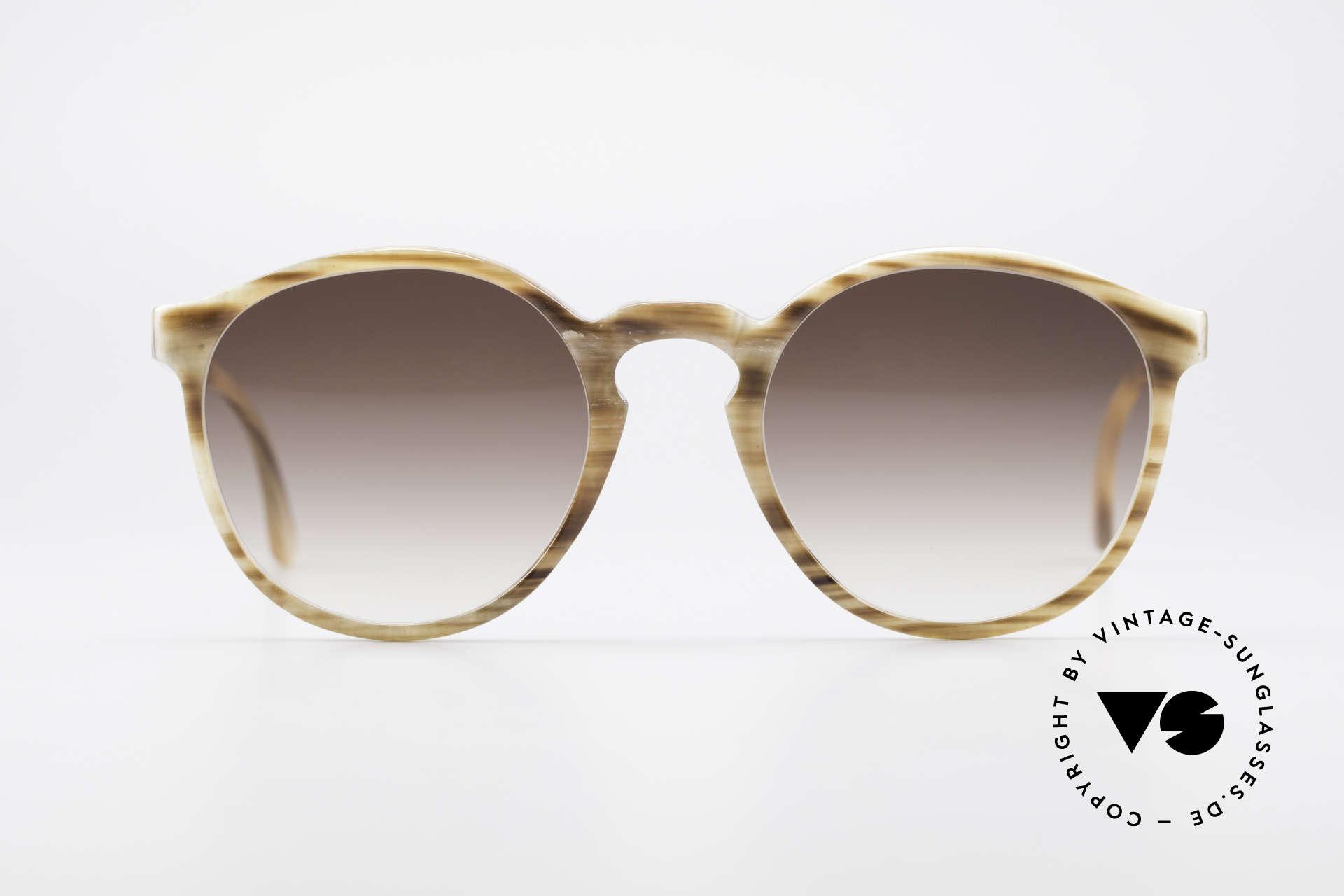 Hartmanns H42 Horn Johnny Depp Style Sunglasses, rare designer piece (made of genuine buffalo horn), Made for Men