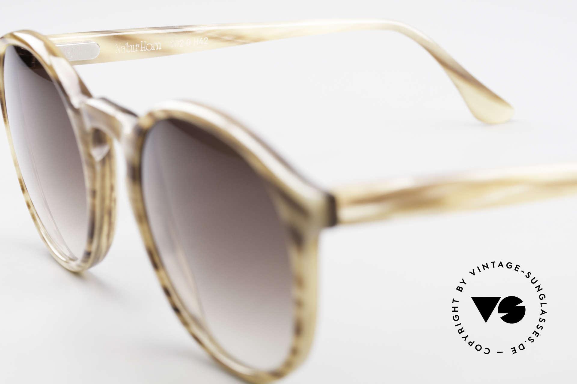 Hartmanns H42 Horn Johnny Depp Style Sunglasses, unworn (like all our vintage gentlemen's sunglasses), Made for Men