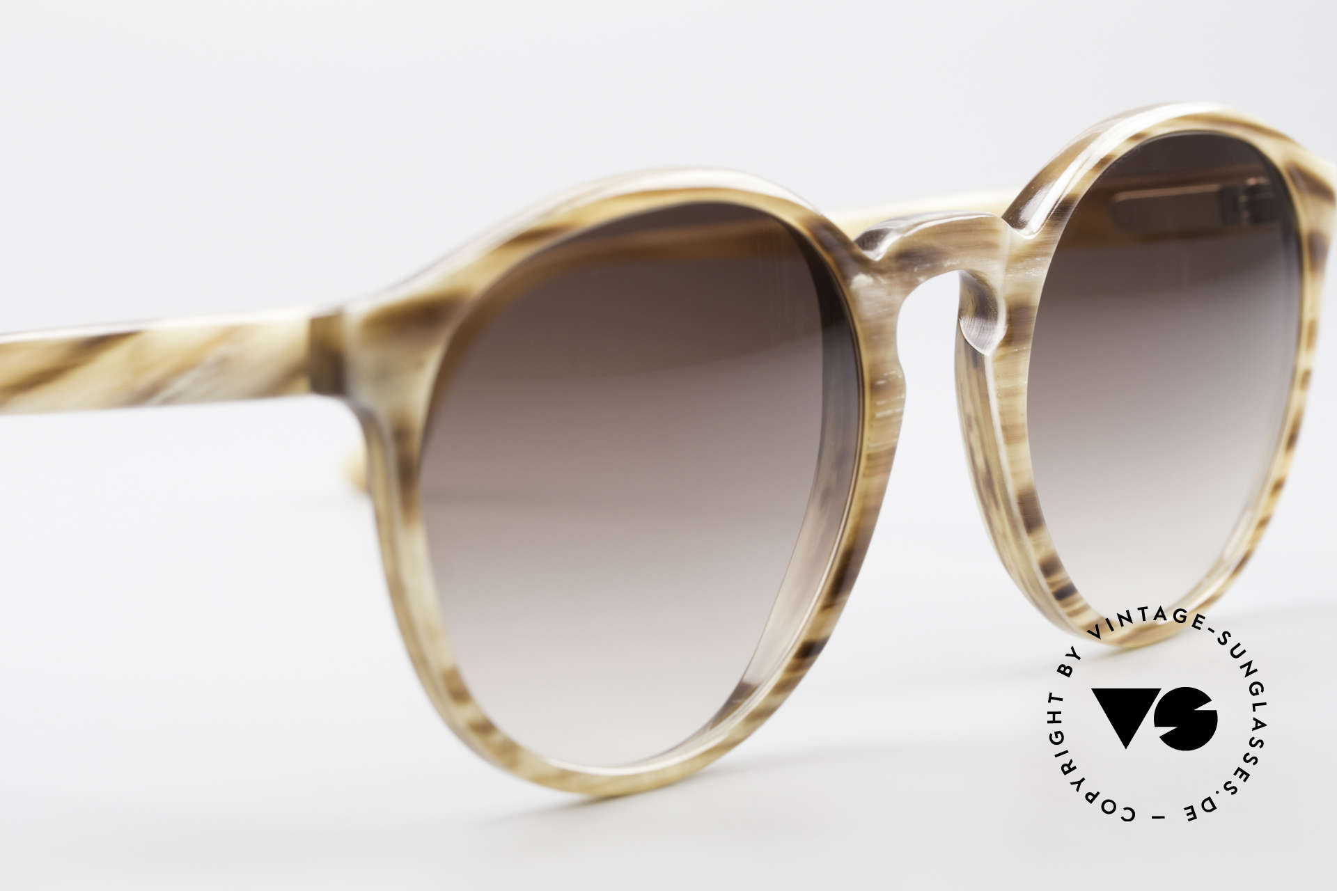 Hartmanns H42 Horn Johnny Depp Style Sunglasses, spiritual / intellectual frame design (PANTO shades), Made for Men