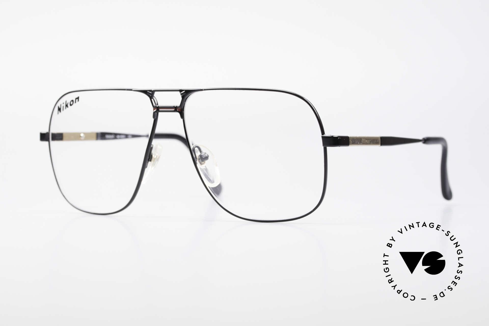 Nikon NK4520 80's XXL Vintage Men's Frame, classic 1980's vintage eyeglasses by NIKON (JAPAN), Made for Men