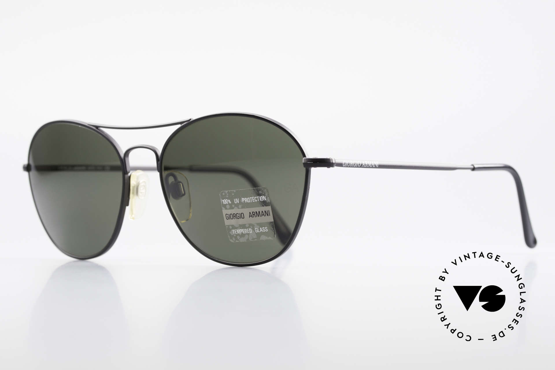 Giorgio Armani 646 Aviator Style Designer Shades, mineral lenses (100% UV) with the GA engraving, Made for Men