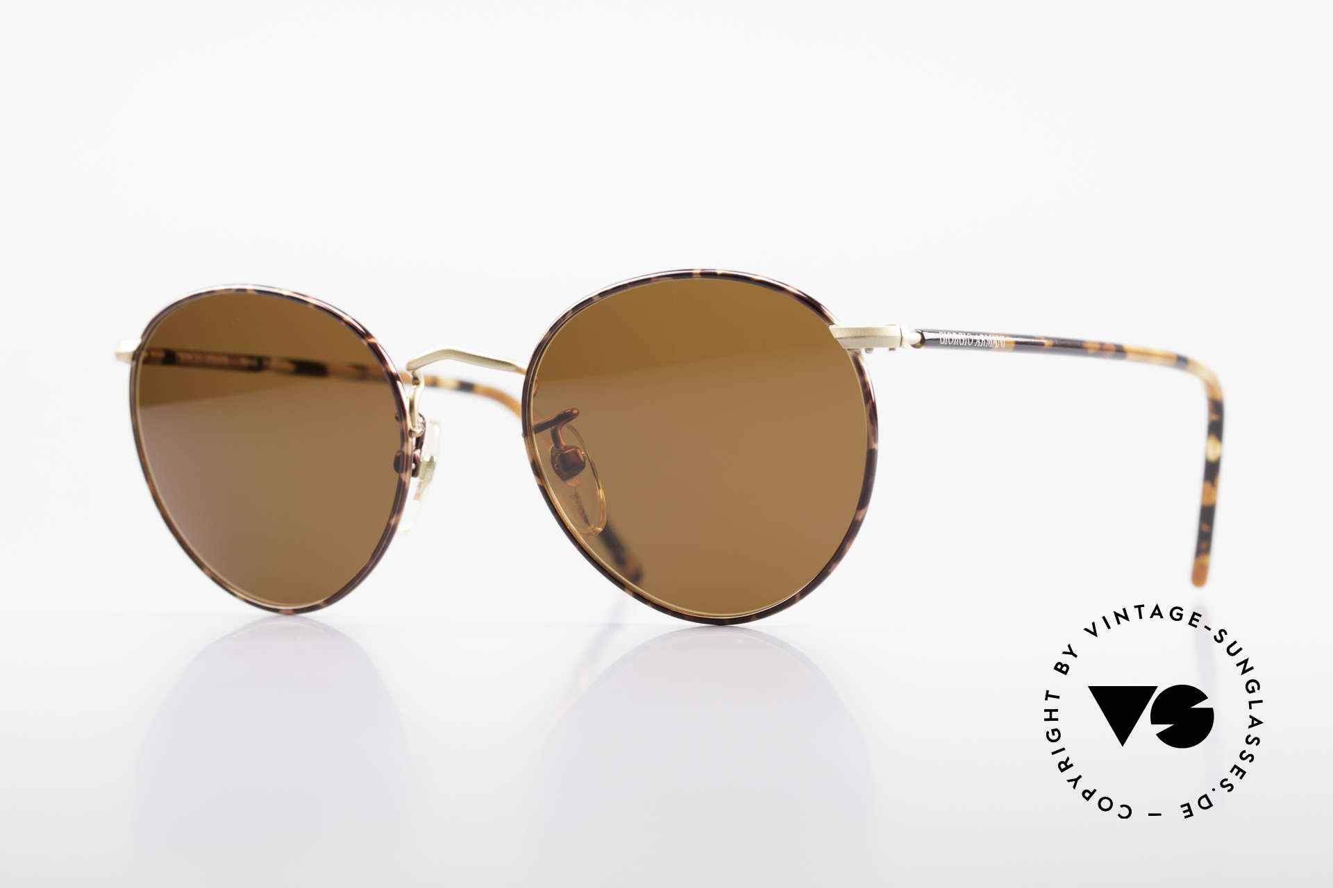Giorgio Armani 138 Panto Vintage Sunglasses, timeless vintage Giorgio Armani designer sunglasses, Made for Men