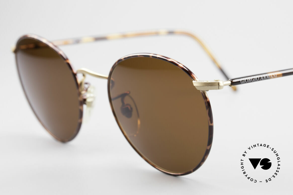"Giorgio Armani 138 Panto Vintage Sunglasses, almost a ""spiritual or intellectual"" eyeglass' design, Made for Men"