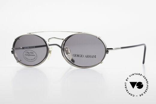 Giorgio Armani 240 Clip On Vintage Designer Frame Details