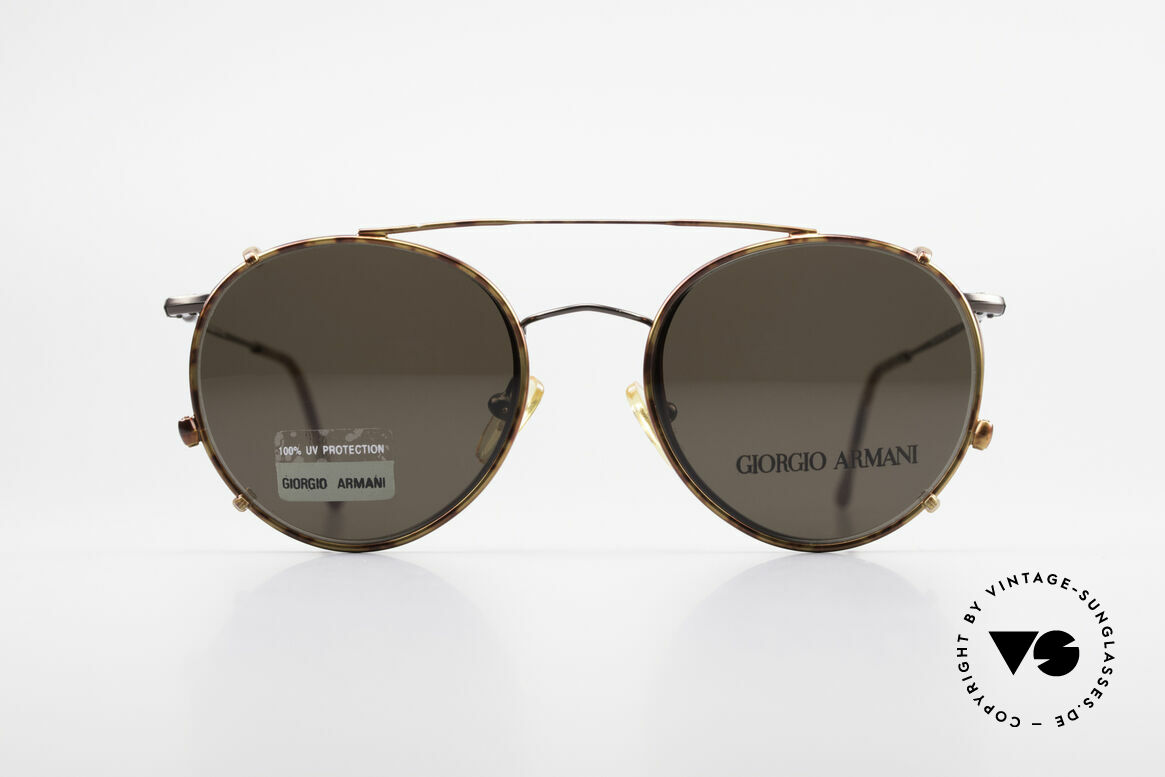 Giorgio Armani 253 Panto Vintage Frame Clip On, world famous 'panto'-design .. a real eyewear classic, Made for Men