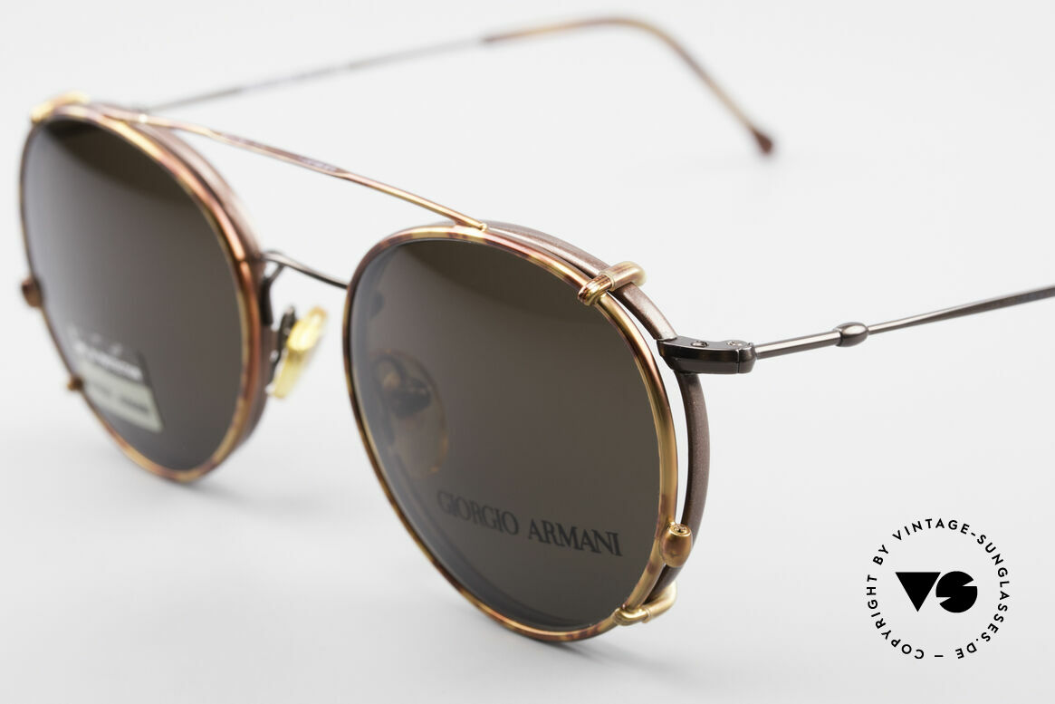 Giorgio Armani 253 Panto Vintage Frame Clip On, can be used as sunglasses and prescription eyewear, Made for Men