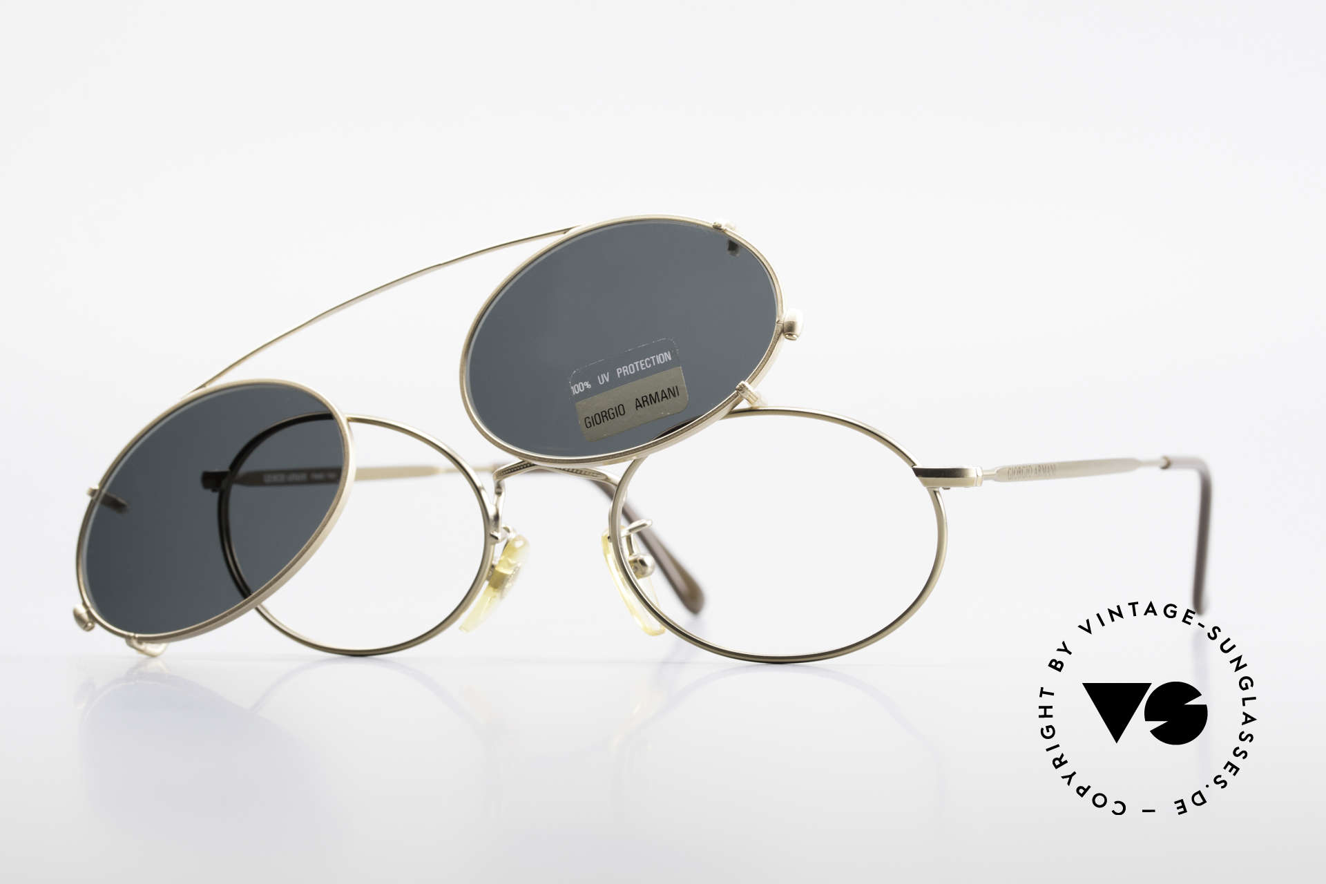 5b83fdf90e9f Sunglasses Giorgio Armani 131 Eyeglass-Frame With Sun Clip