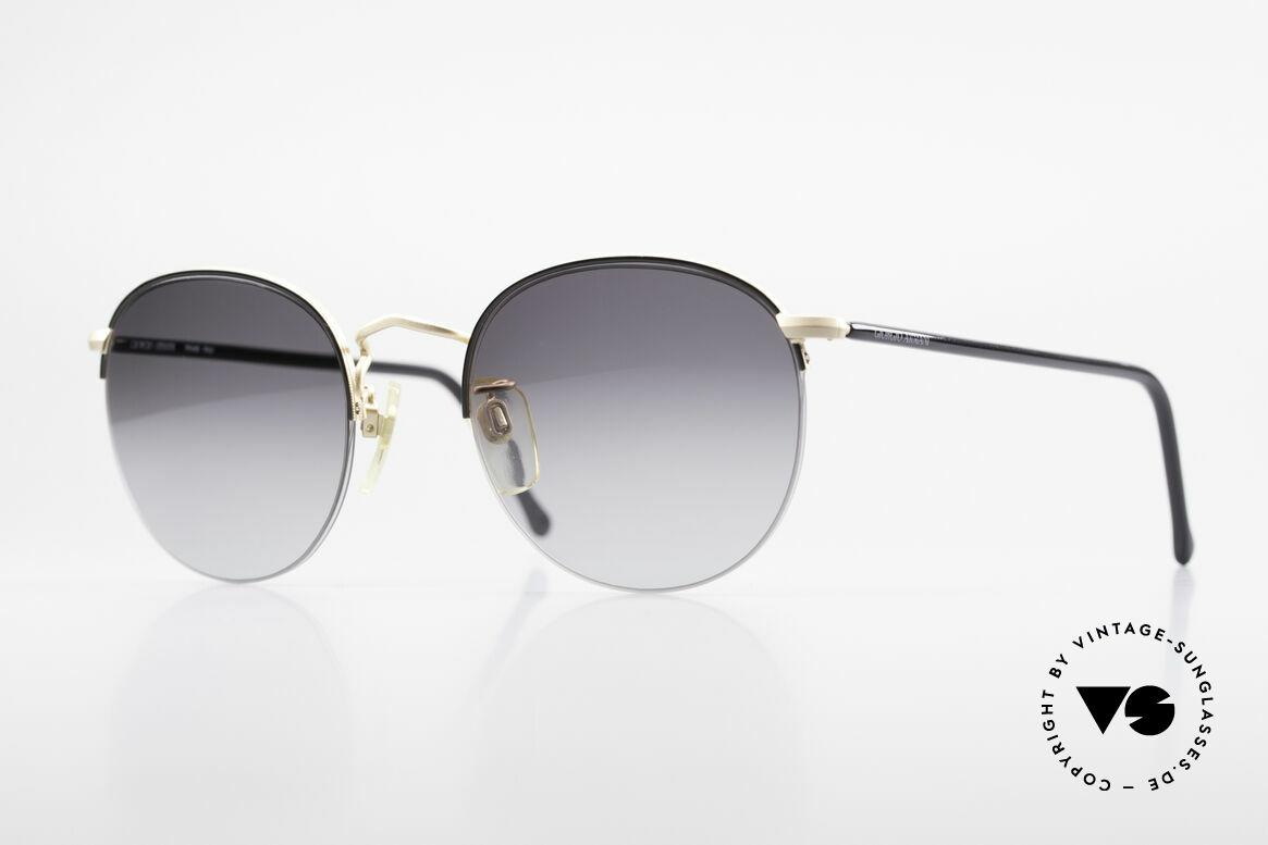 Giorgio Armani 142 Rimless Panto Sunglasses 80's, timeless GIORGIO ARMANI vintage designer shades, Made for Men