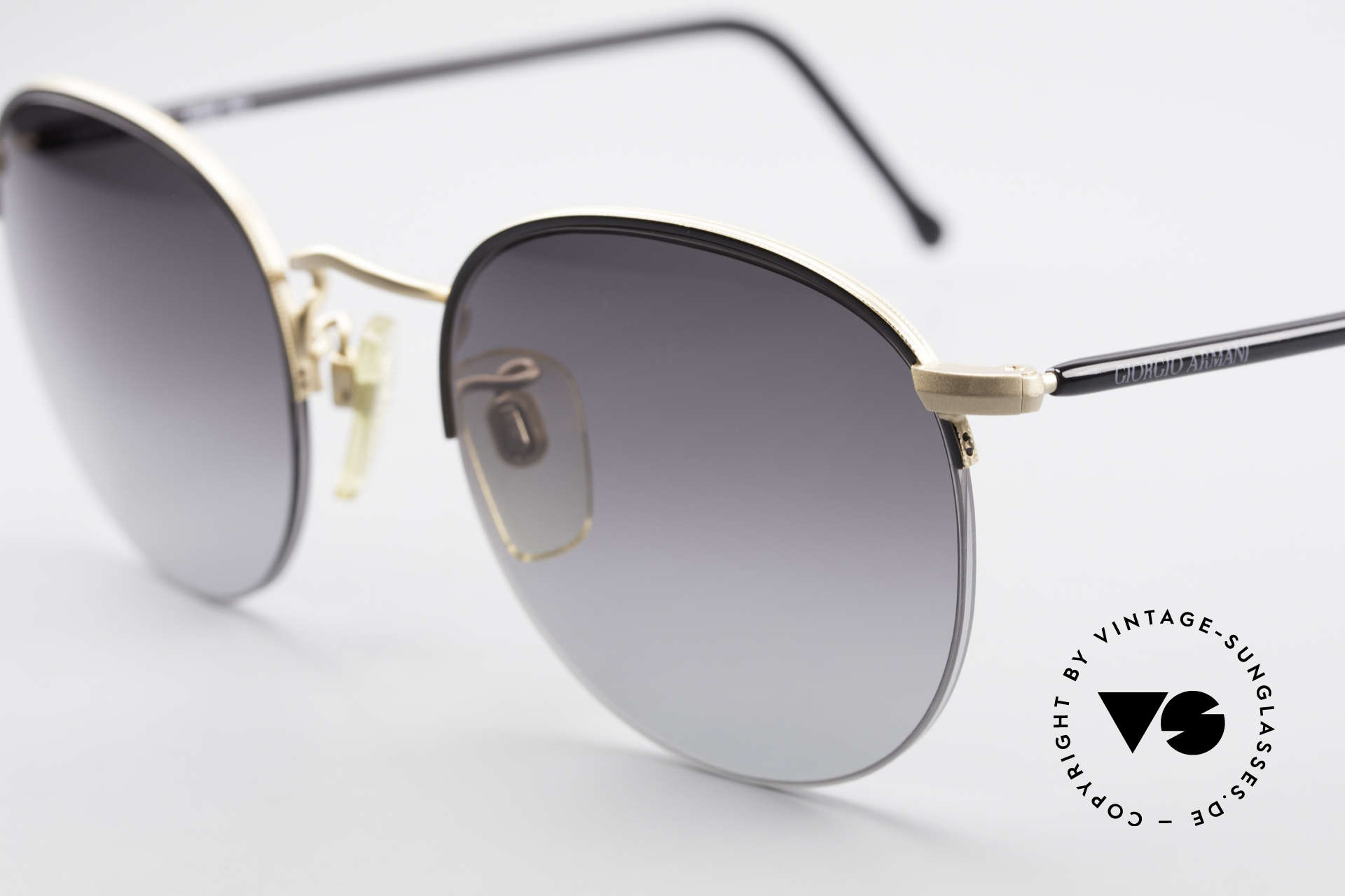 Giorgio Armani 142 Rimless Panto Sunglasses 80's, unworn, NOS, one of a kind and outstanding quality, Made for Men