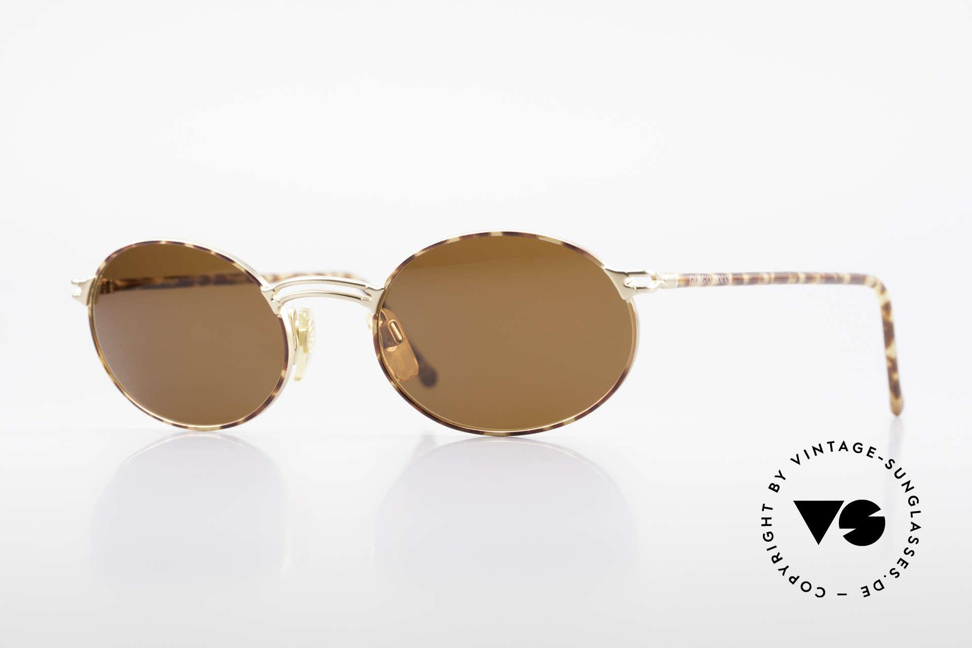 Giorgio Armani 194 Oval 90s Sunglasses No Retro, vintage designer sunglasses by Giorgio Armani, Italy, Made for Men and Women