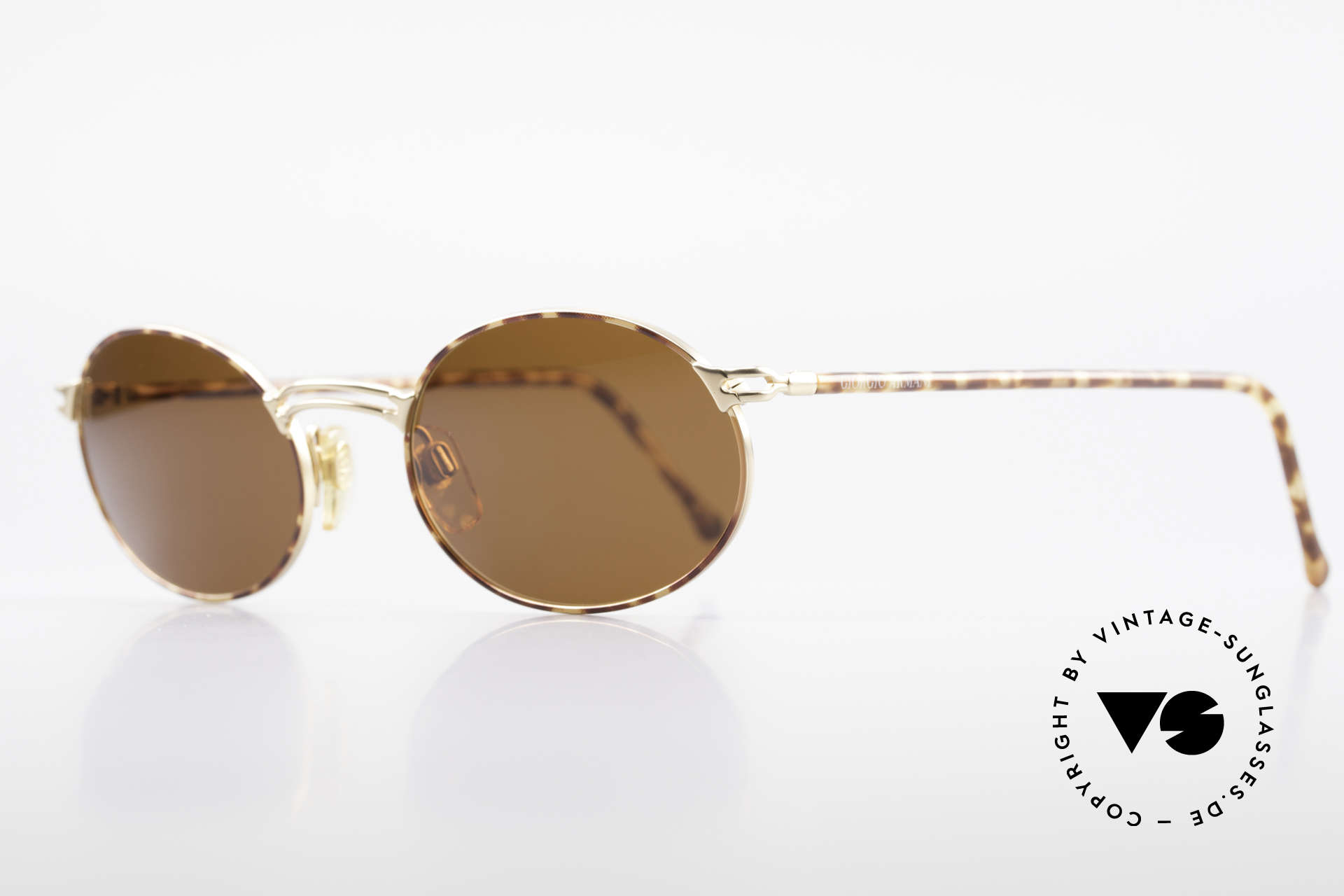 Giorgio Armani 194 Oval 90s Sunglasses No Retro, premium craftsmanship & interesting chestnut color, Made for Men and Women