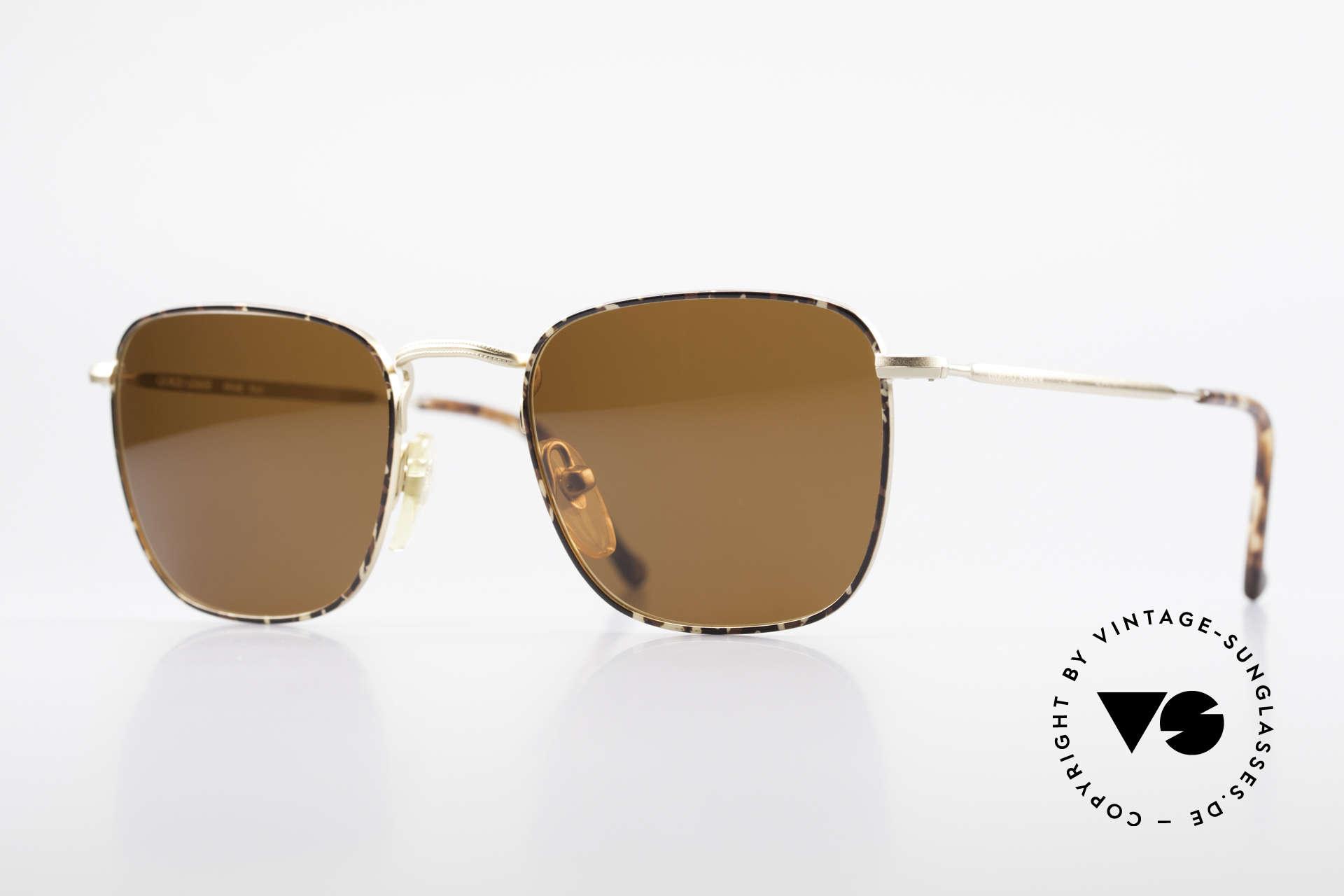 Giorgio Armani 137 Square Panto Vintage Shades, timeless vintage Giorgio Armani designer sunglasses, Made for Men