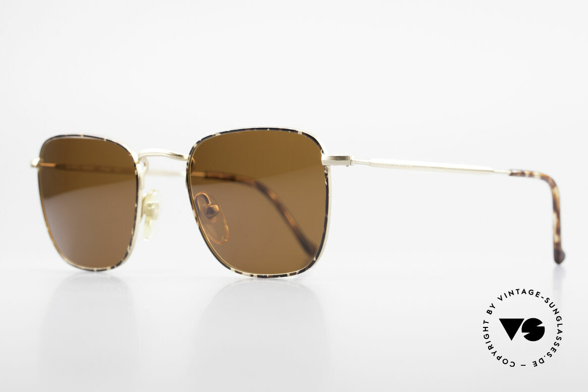 Giorgio Armani 137 Square Panto Vintage Shades, noble 'chestnut brown/tortoise/gold' frame coloring, Made for Men