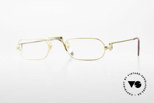 Cartier Demi Lune LC 80's Luxury Reading Glasses Details