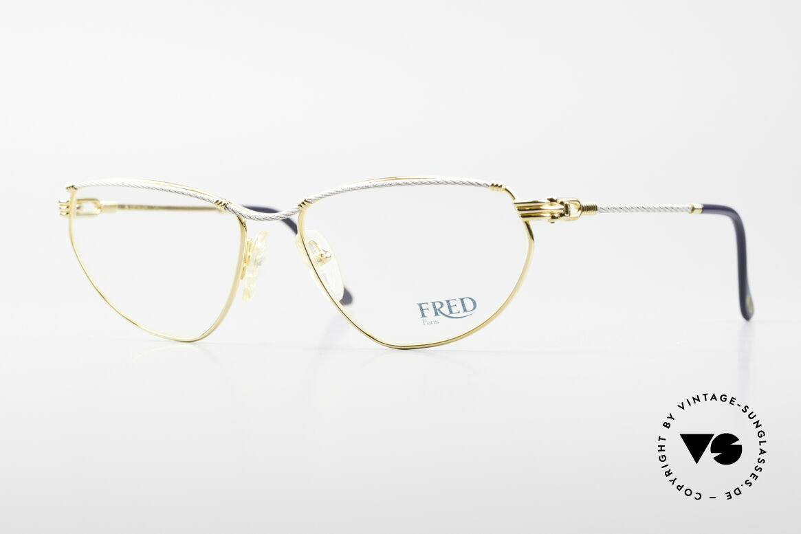Fred Alize Luxury M Eyeglasses Ladies, luxury eyeglass-frame by Fred, Paris from the 1980s, Made for Women