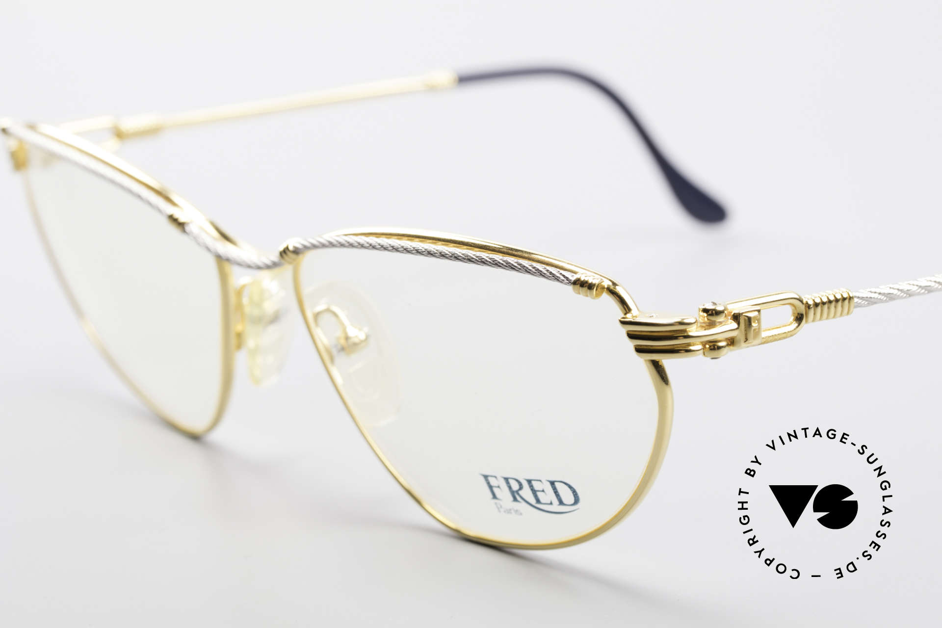 Fred Alize Luxury M Eyeglasses Ladies, temples and bridge are twisted like a hawser; unique, Made for Women