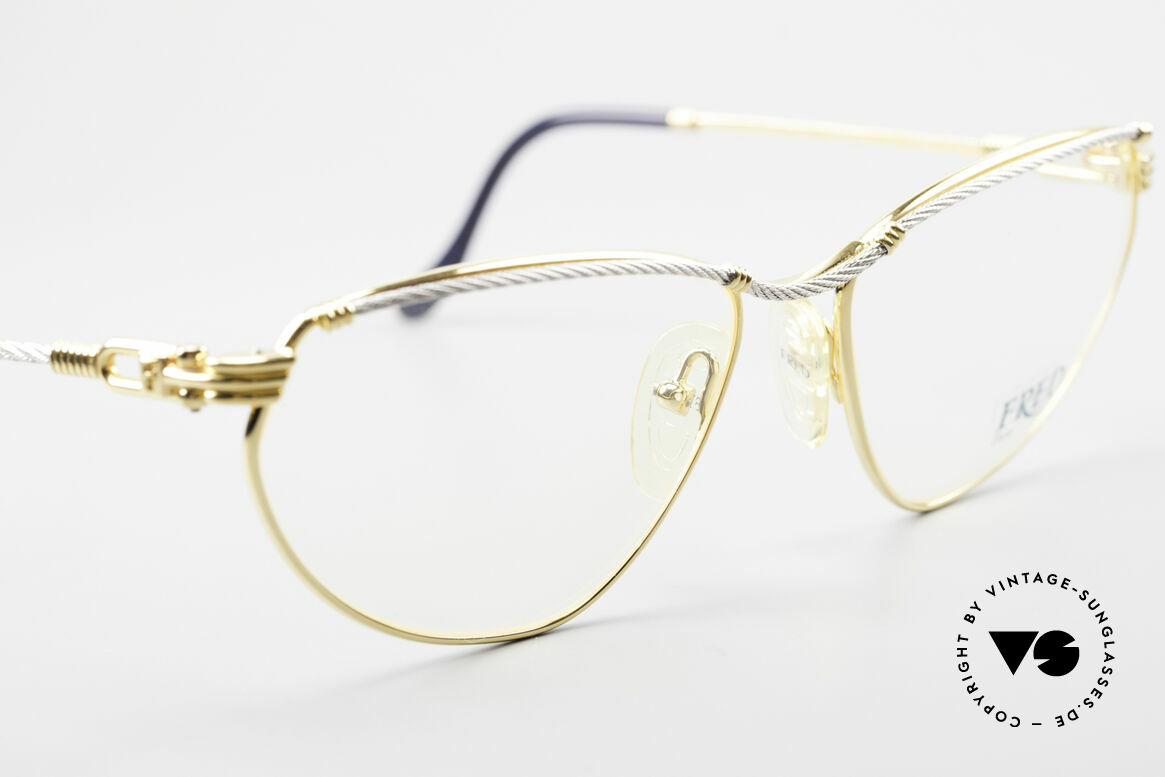 Fred Alize Luxury M Eyeglasses Ladies, bicolor frame & famous cat's-eye design; M size 57/16, Made for Women