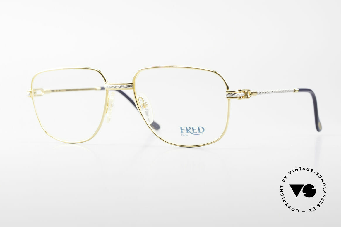 Fred Zephir Luxury Sailing Glasses Men, vintage eyeglass-frame by Fred, Paris from the 1980s, Made for Men