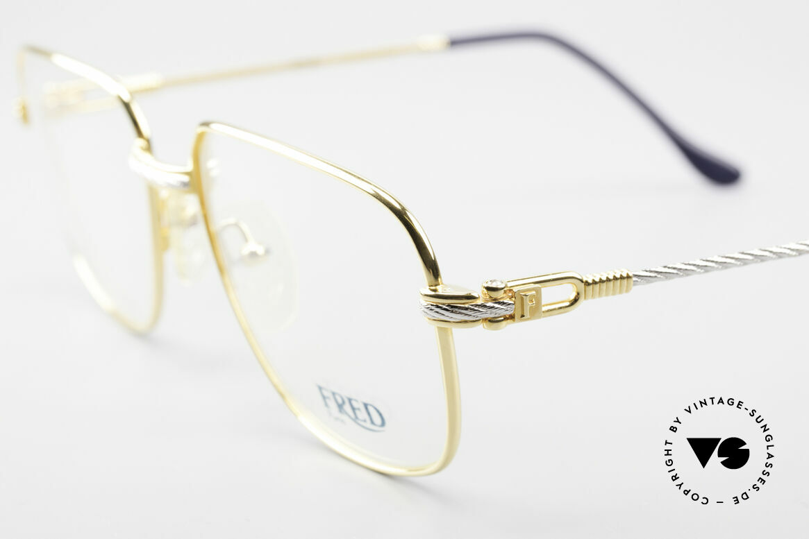 Fred Zephir Luxury Sailing Glasses Men, temples and bridge are twisted like a hawser; unique, Made for Men