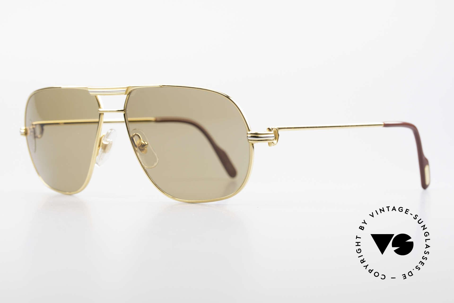 Cartier Tank - M Mystic Cartier Sun Lenses, 22ct gold-plated frame (like all vintage Cartier originals), Made for Men
