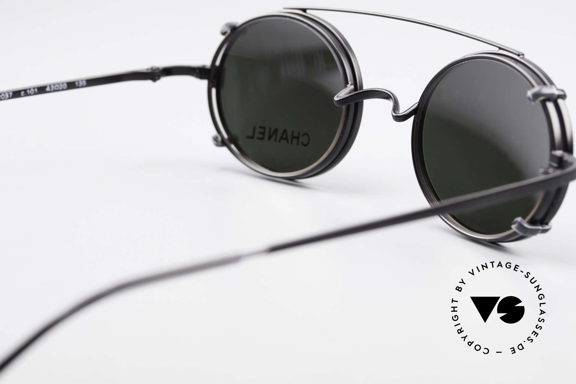 Chanel 2037 Luxury Glasses With Clip On, NO RETRO fashion, but a 20 years old vintage Original, Made for Men and Women