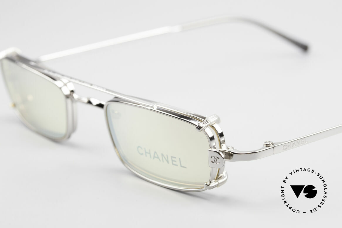 Chanel 2038 Small Luxury Glasses Clip On, yellow sun lenses are light mirrored; 100% UV protect., Made for Men and Women
