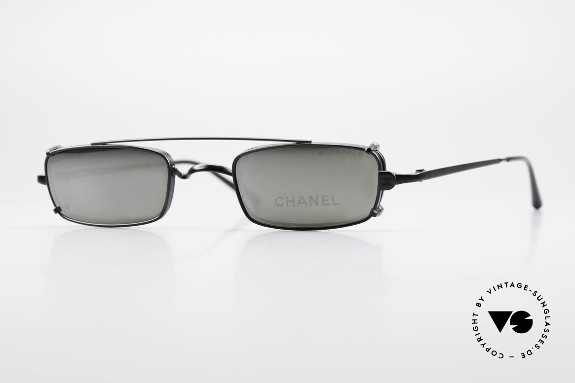 Chanel 2038 Luxury Glasses With Clip On, CHANEL eyeglass-frame, model 2038, small size 43-21, Made for Men and Women